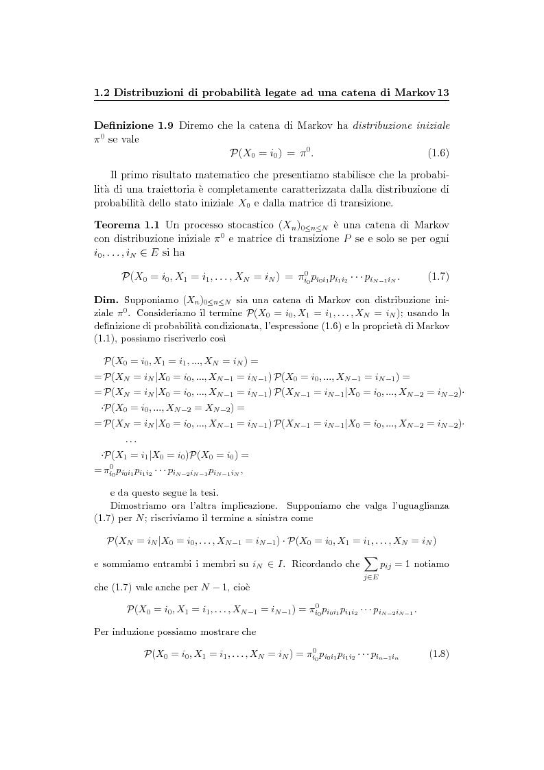Anteprima della tesi: Catene di Markov e processi epidemici stocastici, Pagina 7