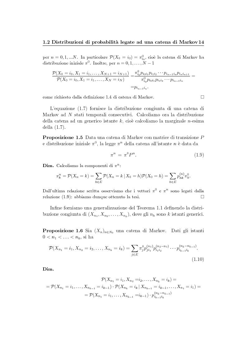 Anteprima della tesi: Catene di Markov e processi epidemici stocastici, Pagina 8