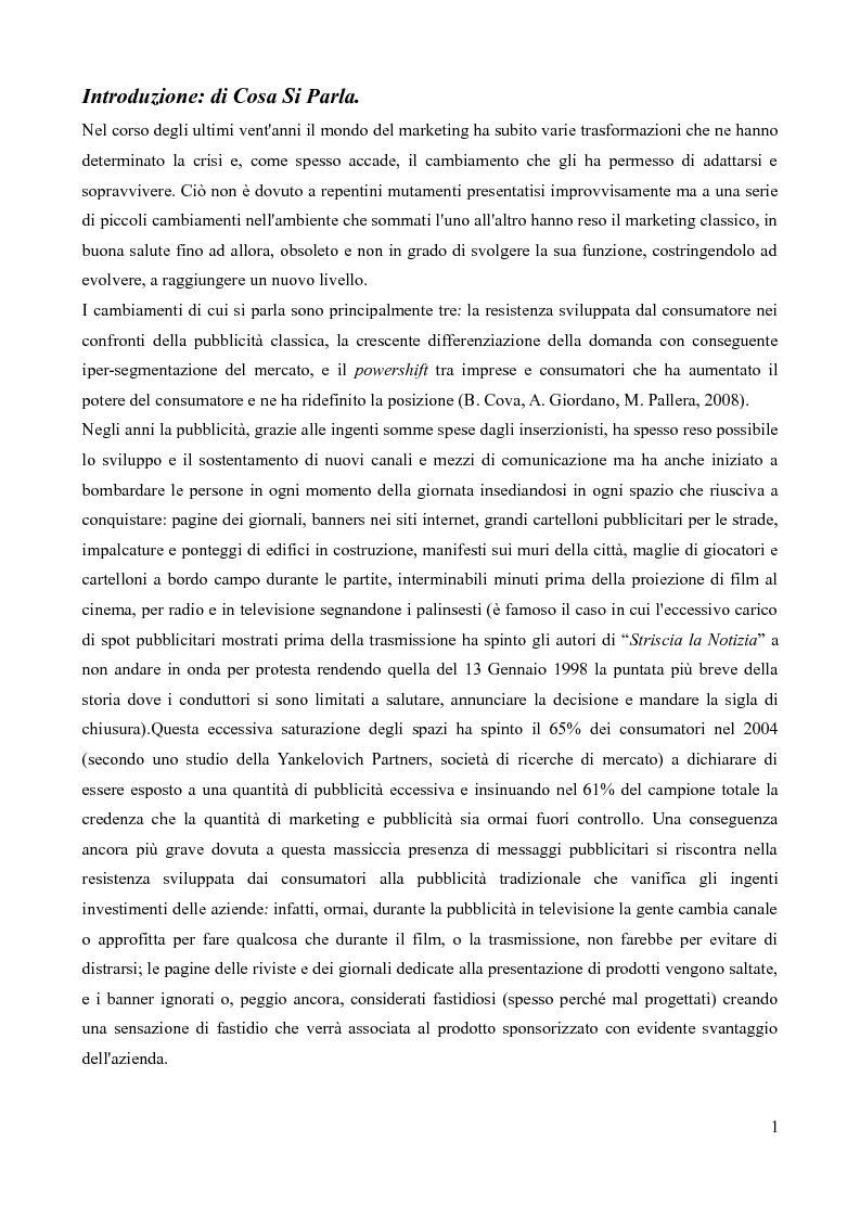 Anteprima della tesi: Strumenti di Marketing Non-Convenzionale, Pagina 2