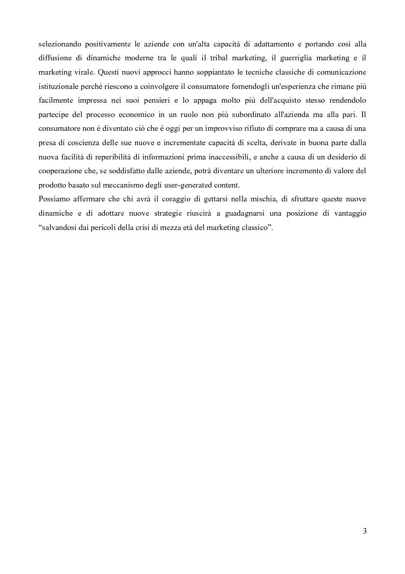 Anteprima della tesi: Strumenti di Marketing Non-Convenzionale, Pagina 4