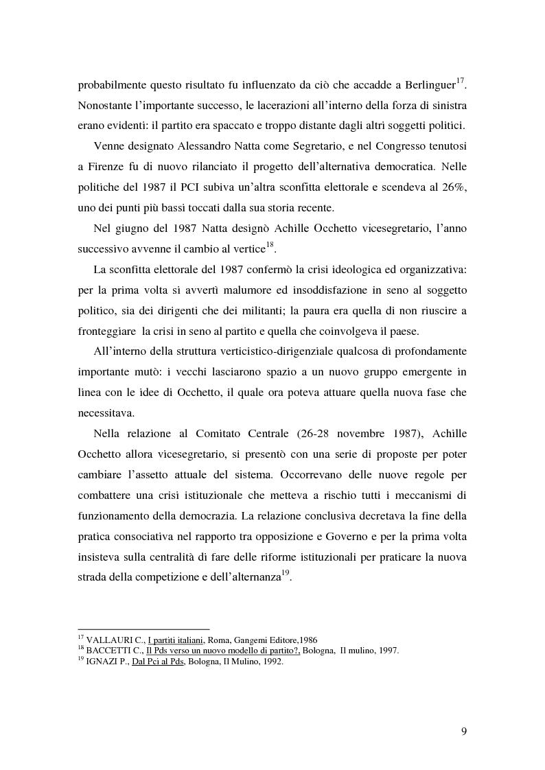 Anteprima della tesi: La Genesi del Partito Democratico, Pagina 10