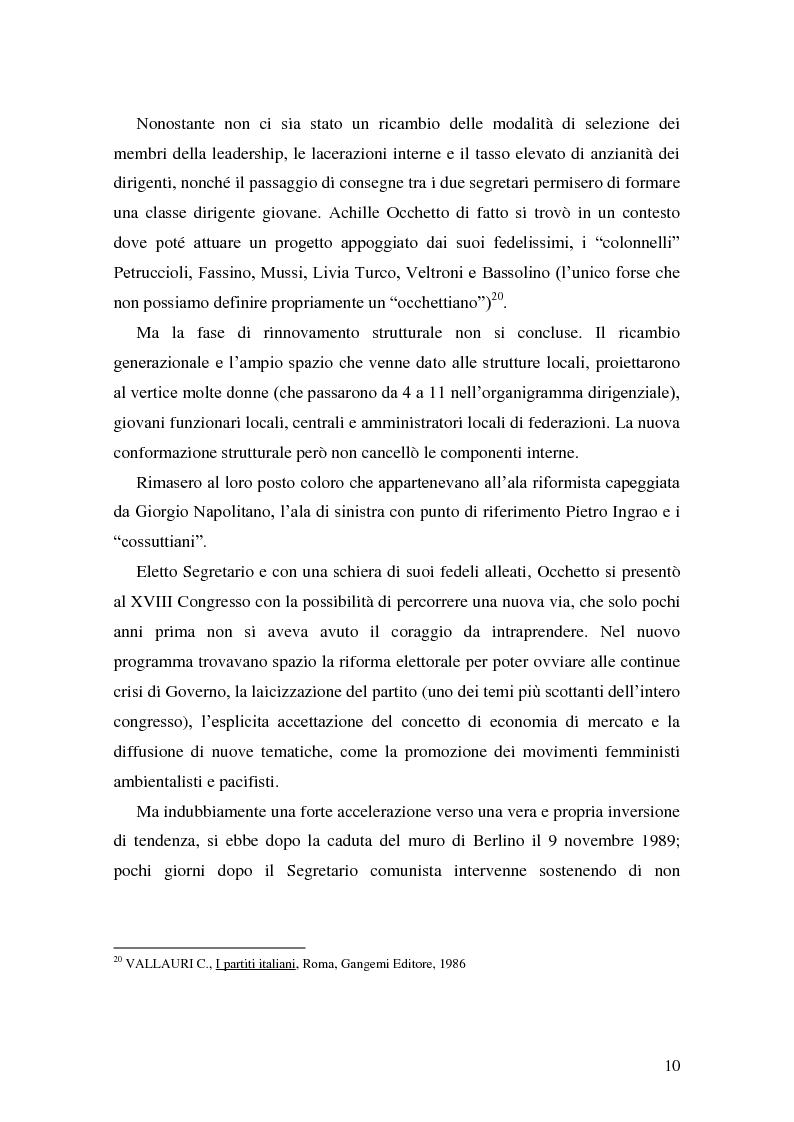 Anteprima della tesi: La Genesi del Partito Democratico, Pagina 11