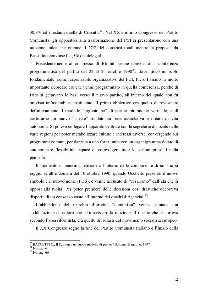 Anteprima della tesi: La Genesi del Partito Democratico, Pagina 13