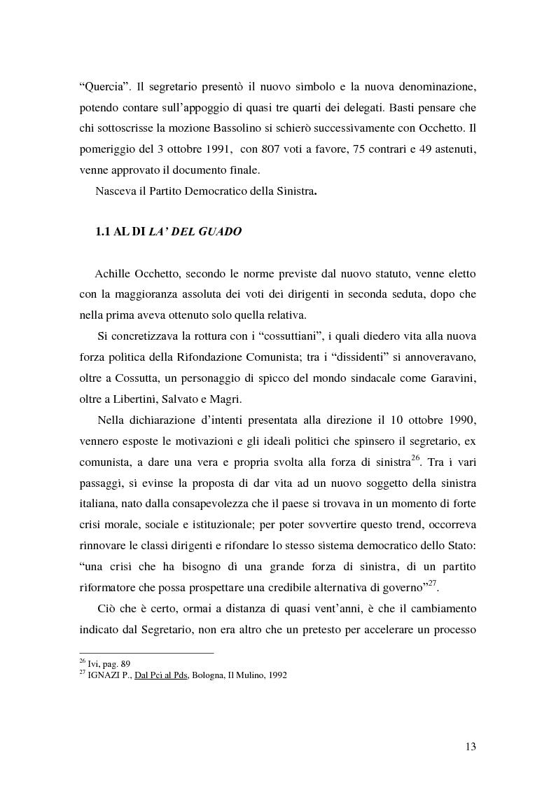 Anteprima della tesi: La Genesi del Partito Democratico, Pagina 14