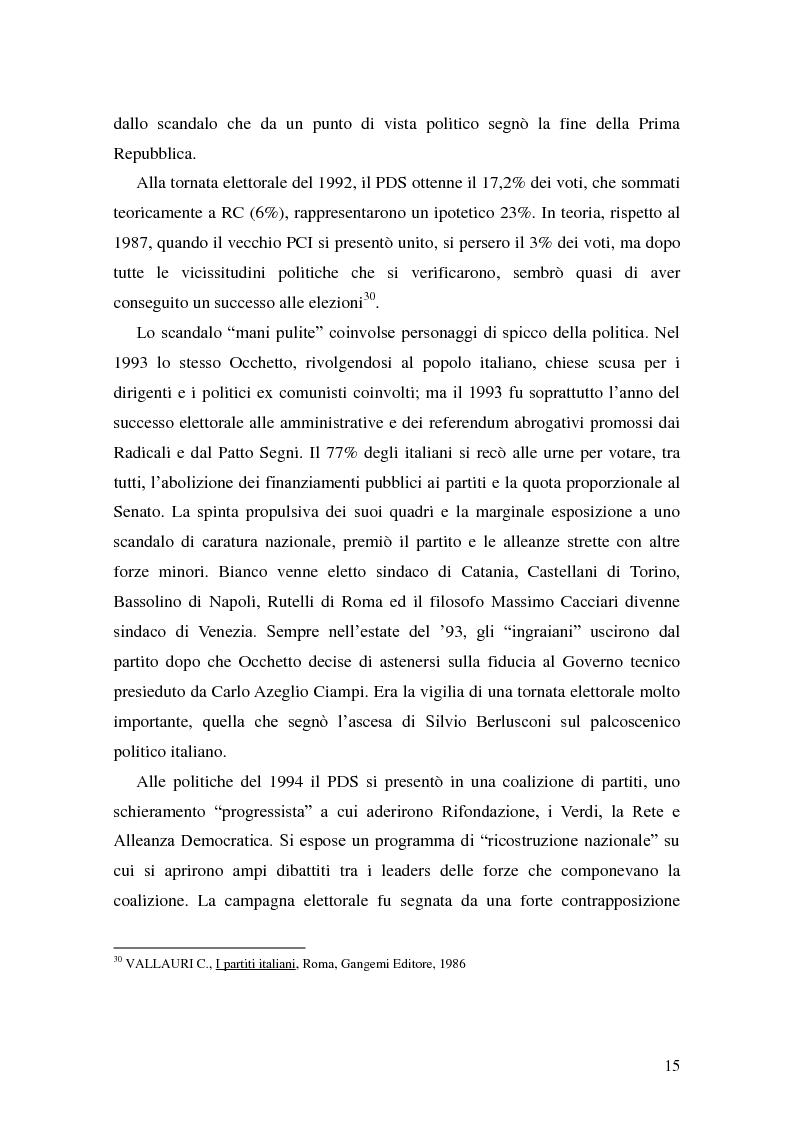 Anteprima della tesi: La Genesi del Partito Democratico, Pagina 16