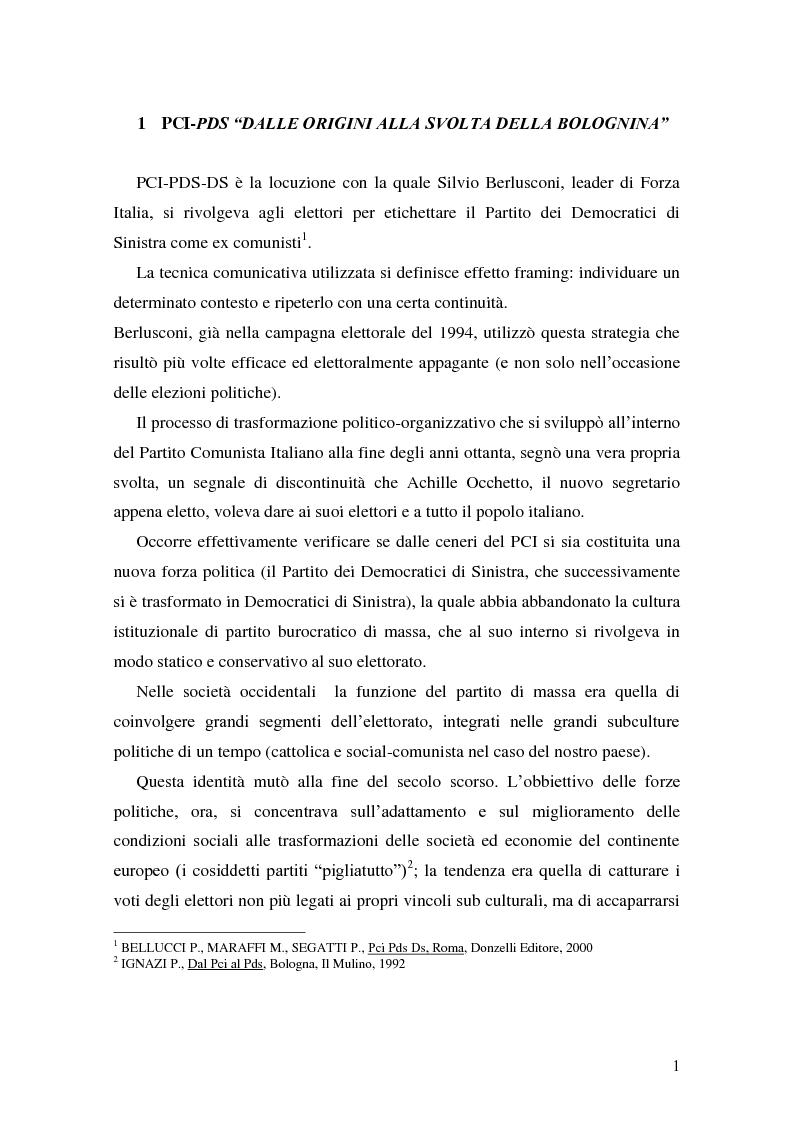 Anteprima della tesi: La Genesi del Partito Democratico, Pagina 2