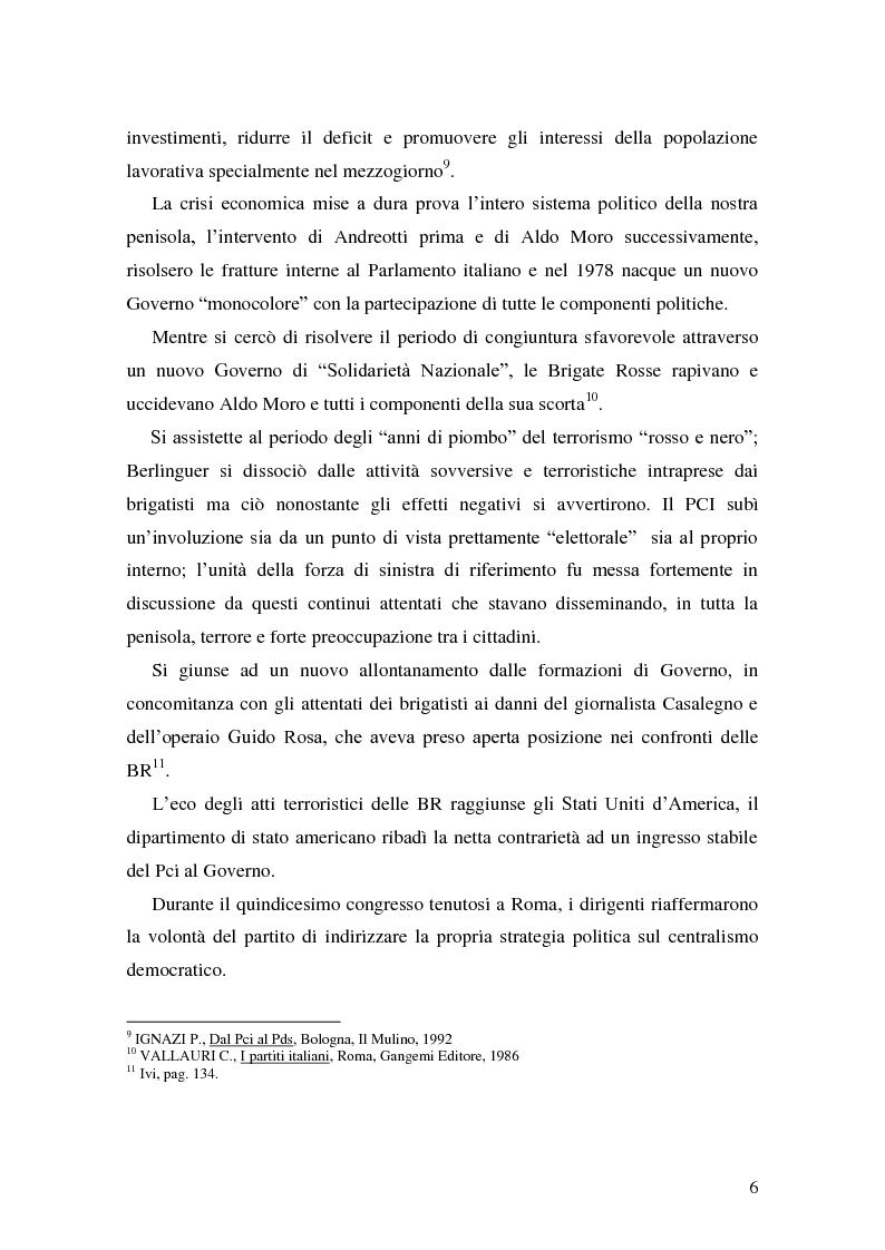 Anteprima della tesi: La Genesi del Partito Democratico, Pagina 7