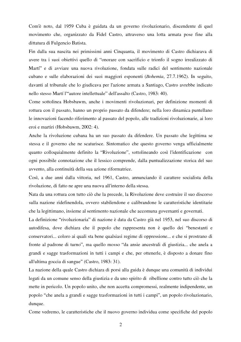 Anteprima della tesi: Nazionalismo e rivoluzione a Cuba: l'eredità di José Martí nella scuola elementare, Pagina 3