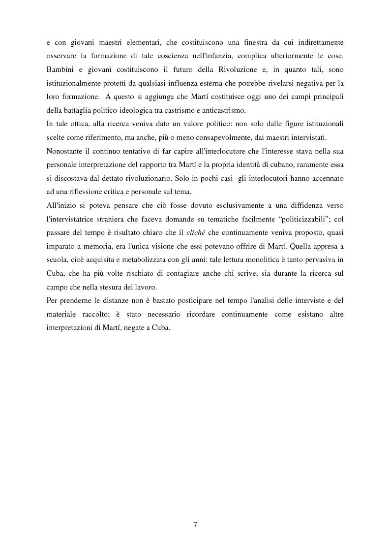 Anteprima della tesi: Nazionalismo e rivoluzione a Cuba: l'eredità di José Martí nella scuola elementare, Pagina 8