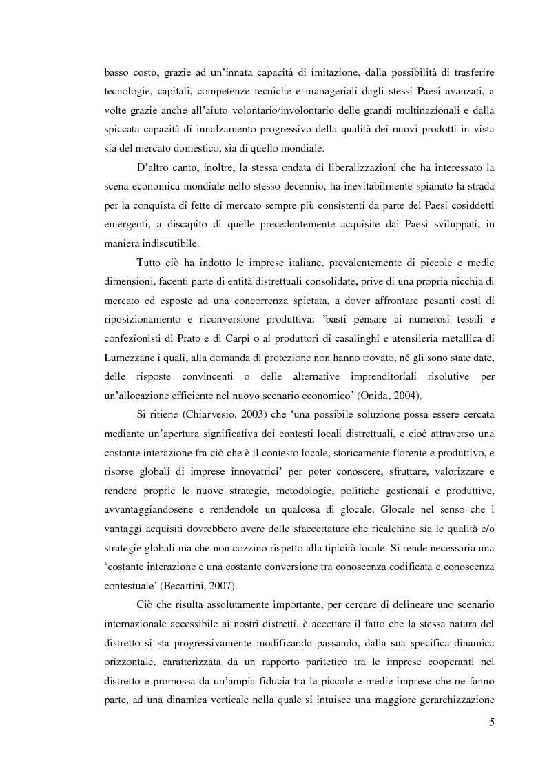 Anteprima della tesi: L'internazionalizzazione dei distretti industriali: il caso del tessile abbigliamento di Carpi, Pagina 3