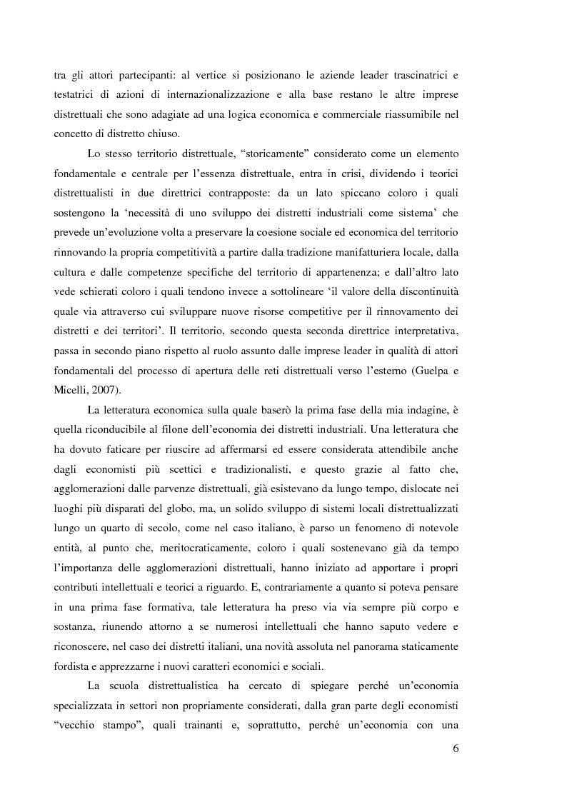 Anteprima della tesi: L'internazionalizzazione dei distretti industriali: il caso del tessile abbigliamento di Carpi, Pagina 4