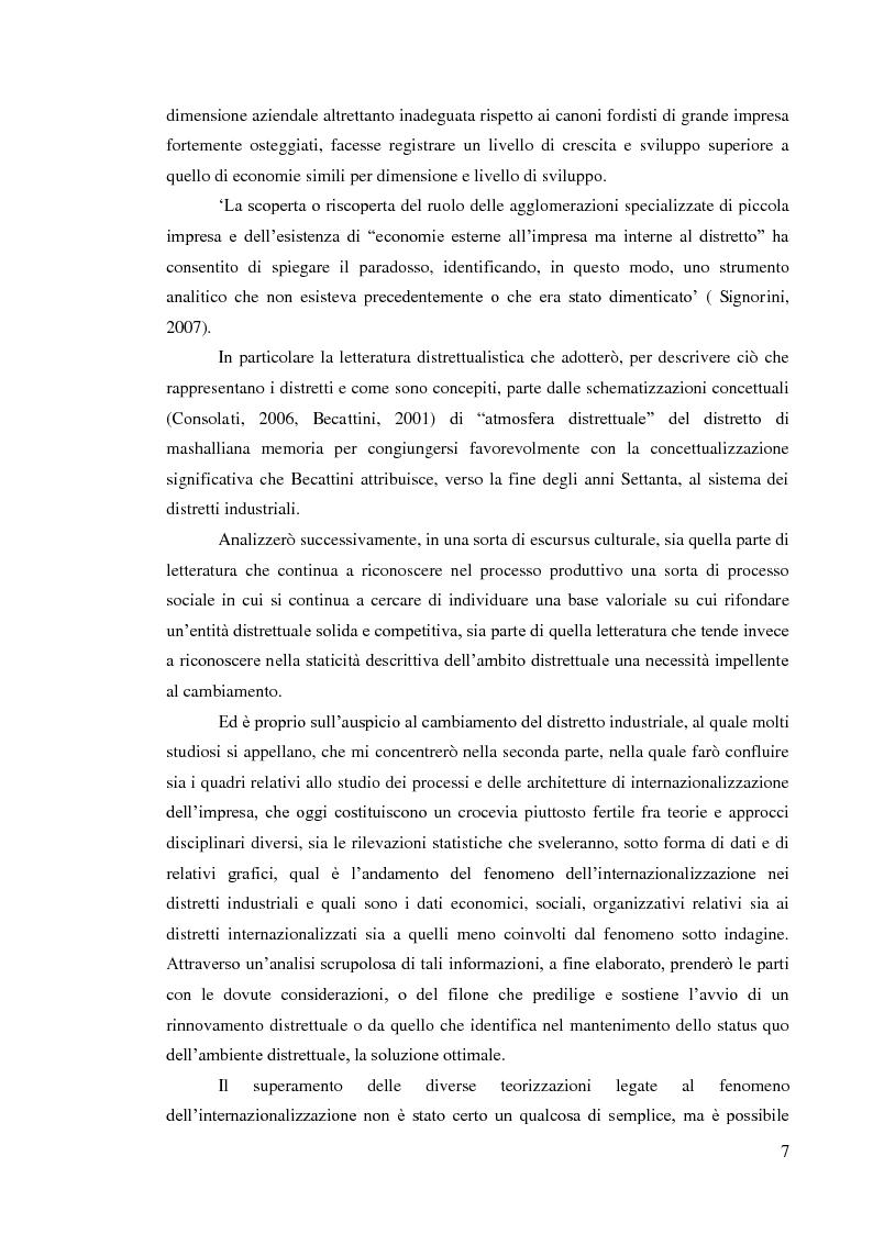 Anteprima della tesi: L'internazionalizzazione dei distretti industriali: il caso del tessile abbigliamento di Carpi, Pagina 5