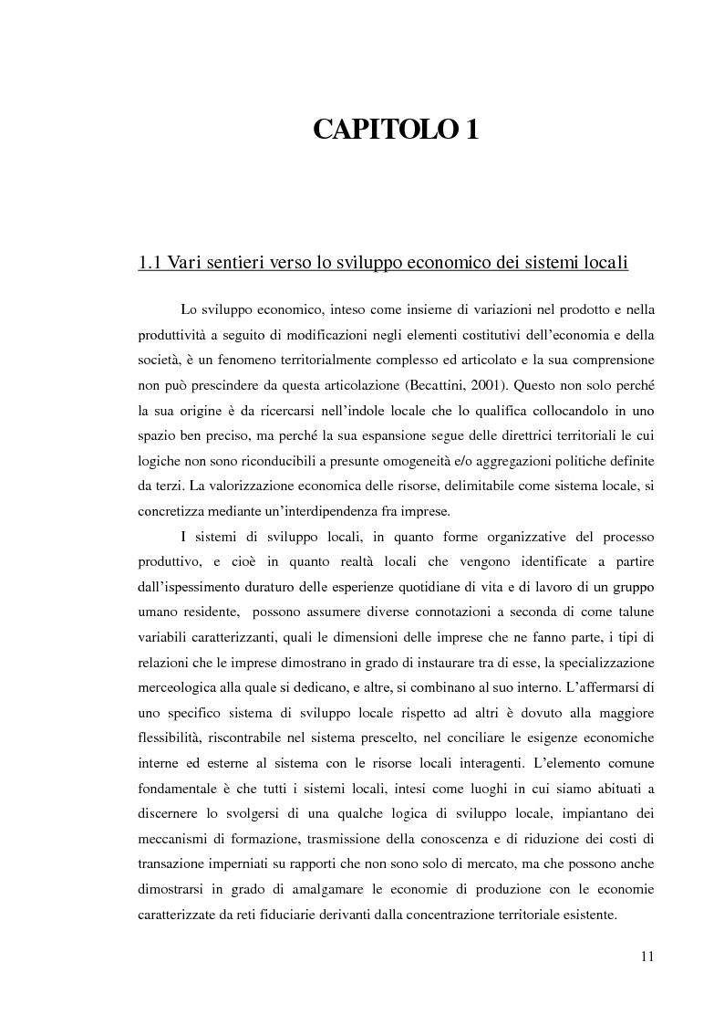 Anteprima della tesi: L'internazionalizzazione dei distretti industriali: il caso del tessile abbigliamento di Carpi, Pagina 9