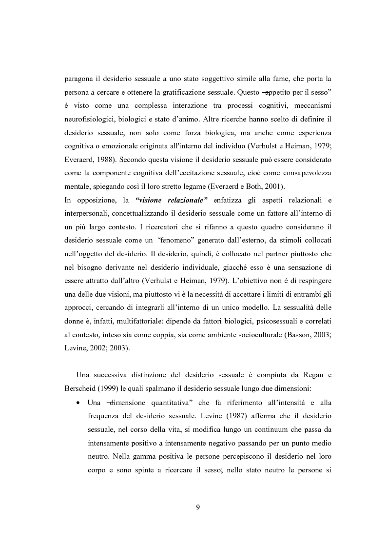 Anteprima della tesi: Eccitazione ed inibizione sessuale in un campione di donne siciliane: uno studio tramite focus group., Pagina 10