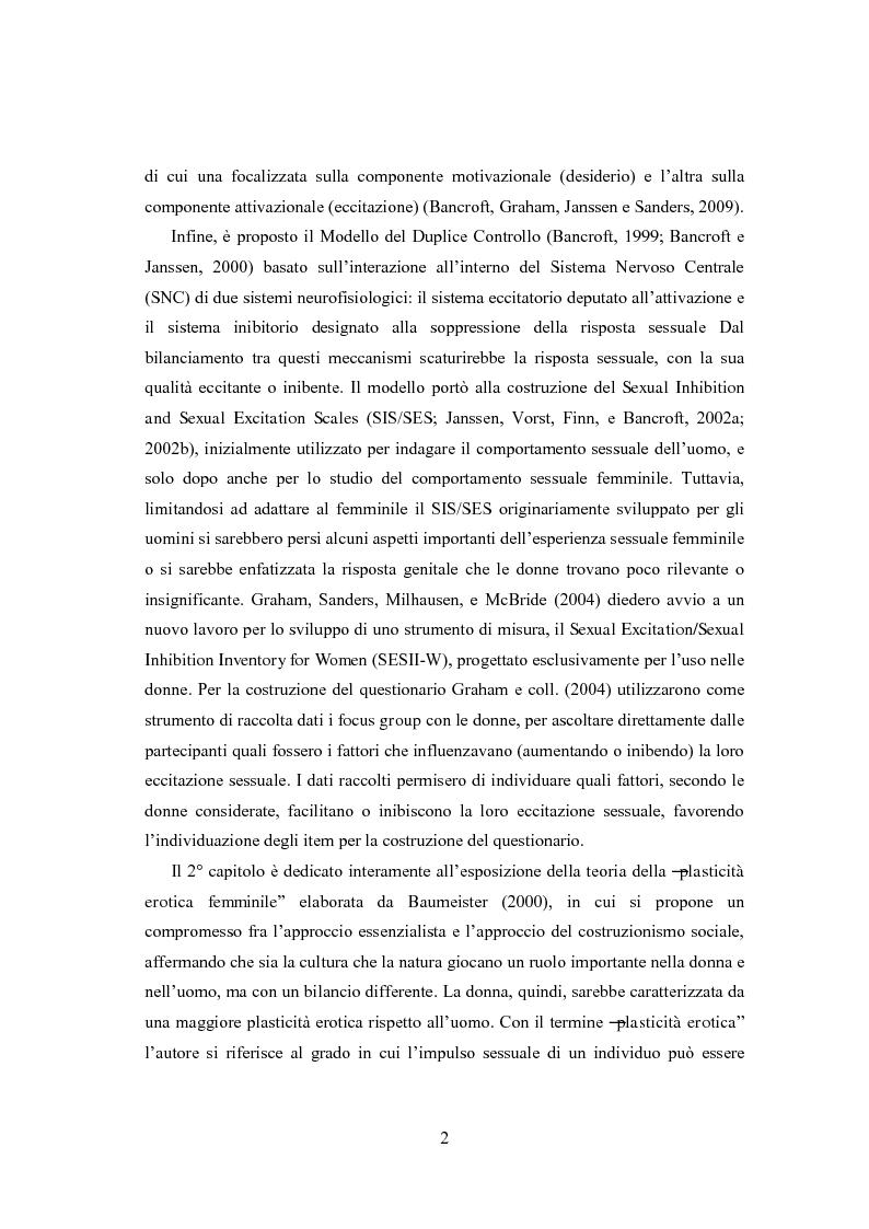 Anteprima della tesi: Eccitazione ed inibizione sessuale in un campione di donne siciliane: uno studio tramite focus group., Pagina 3