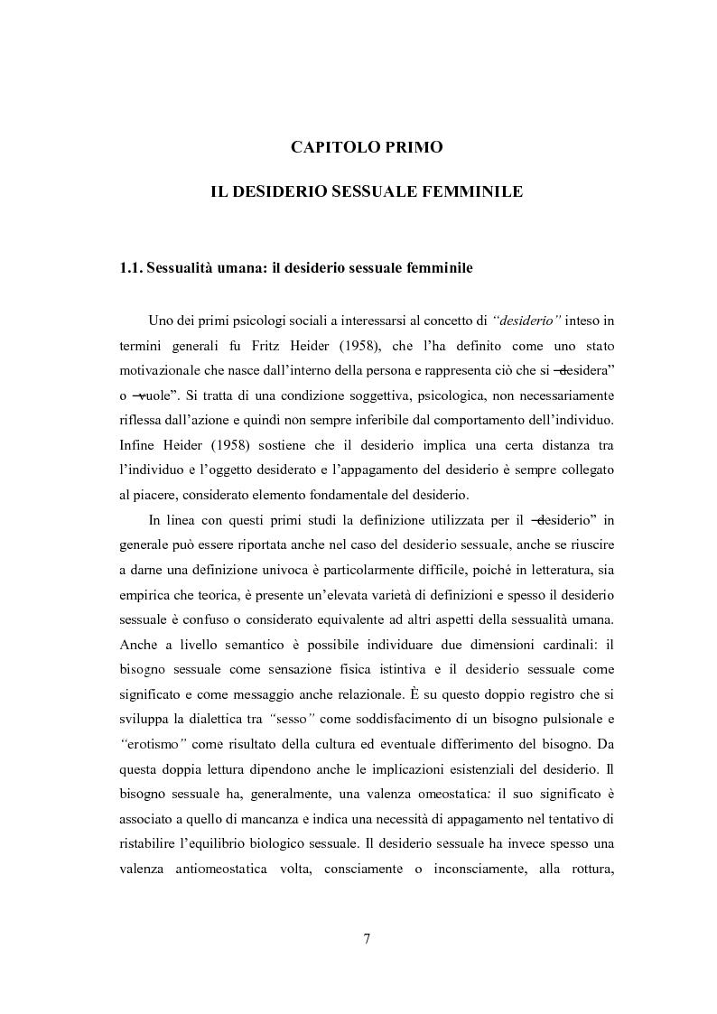 Anteprima della tesi: Eccitazione ed inibizione sessuale in un campione di donne siciliane: uno studio tramite focus group., Pagina 8