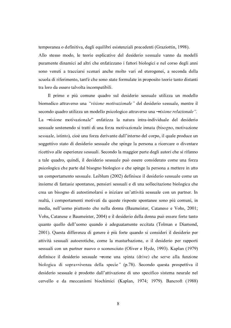 Anteprima della tesi: Eccitazione ed inibizione sessuale in un campione di donne siciliane: uno studio tramite focus group., Pagina 9
