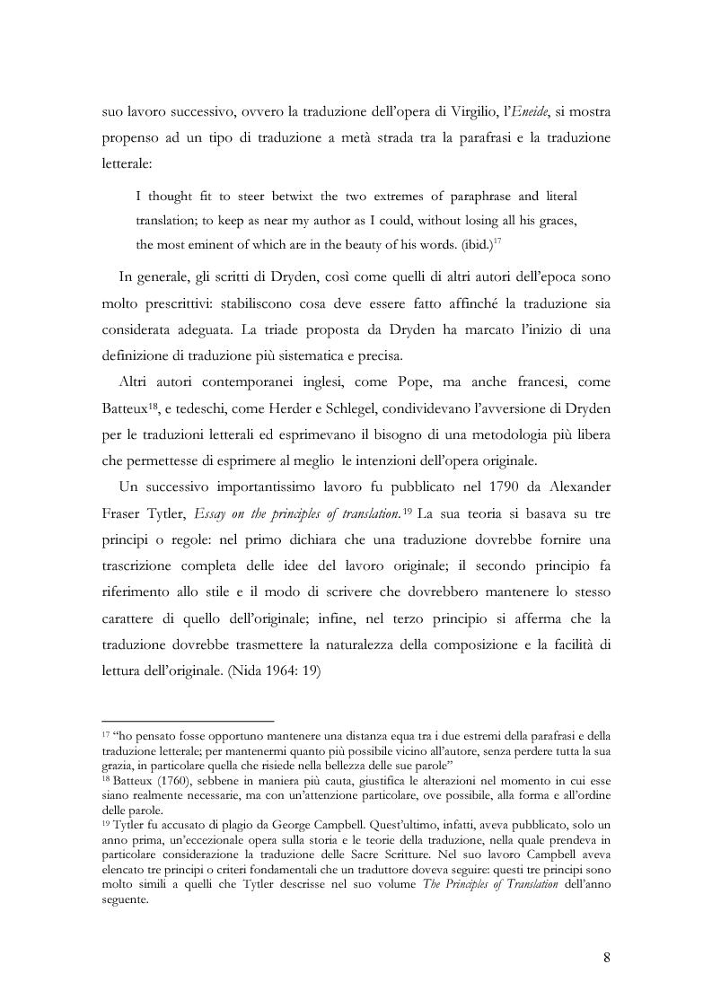 """Anteprima della tesi: Scienza della traduzione e arte del doppiaggio. Analisi contrastiva dell'adattamento italiano per la pellicola """"Los abrazos rotos"""" di Pedro Almodóvar, Pagina 12"""