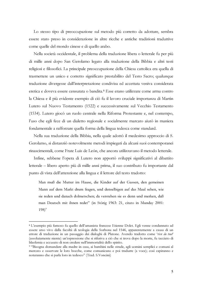"""Anteprima della tesi: Scienza della traduzione e arte del doppiaggio. Analisi contrastiva dell'adattamento italiano per la pellicola """"Los abrazos rotos"""" di Pedro Almodóvar, Pagina 9"""