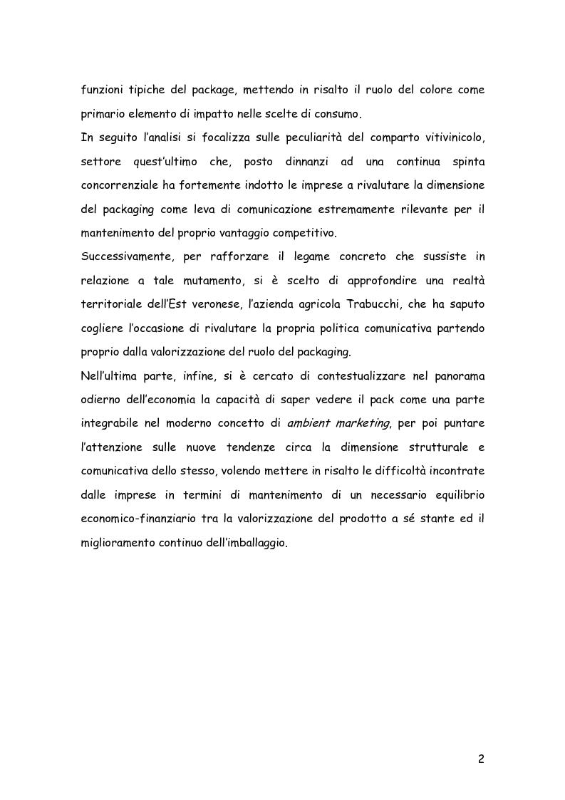 Anteprima della tesi: Comunicare con il packaging: le scelte in ambito semiotico dell'azienda agricola Trabucchi., Pagina 3