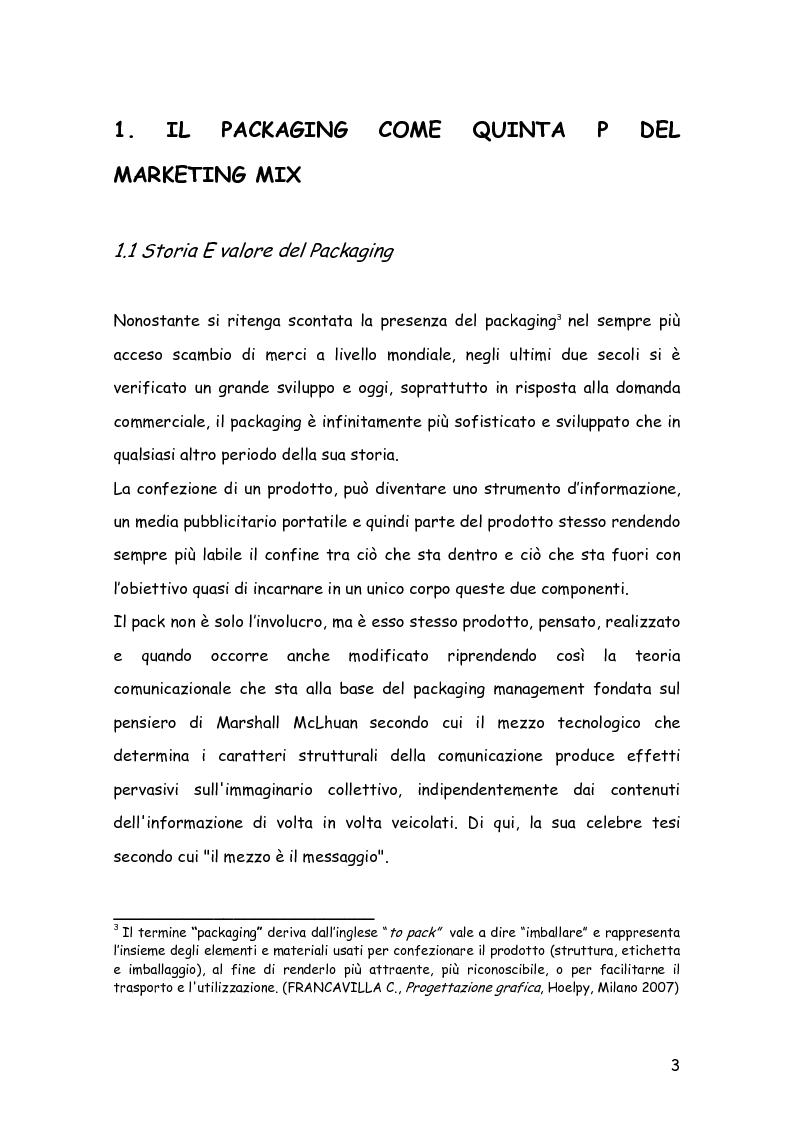 Anteprima della tesi: Comunicare con il packaging: le scelte in ambito semiotico dell'azienda agricola Trabucchi., Pagina 4