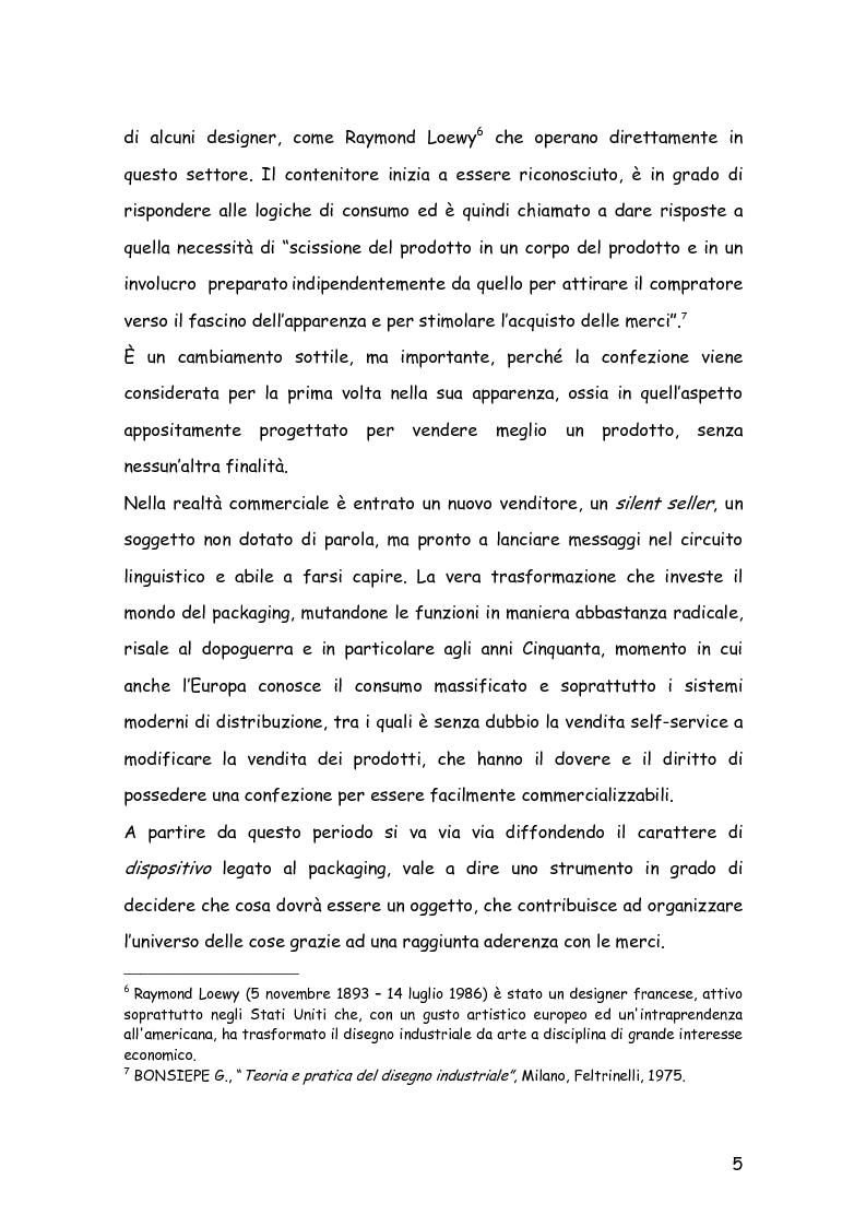 Anteprima della tesi: Comunicare con il packaging: le scelte in ambito semiotico dell'azienda agricola Trabucchi., Pagina 6
