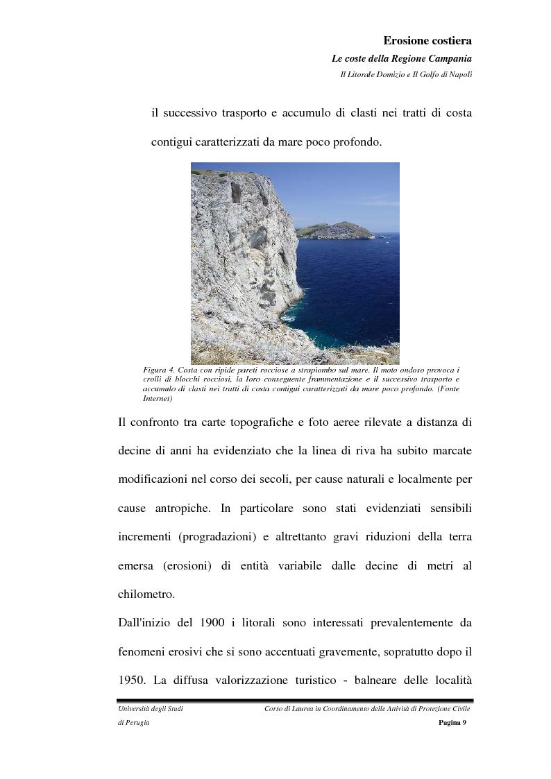 Anteprima della tesi: Erosione costiera. Le coste della Regione Campania - Litorale Domitio e Golfo di Napoli, Pagina 10
