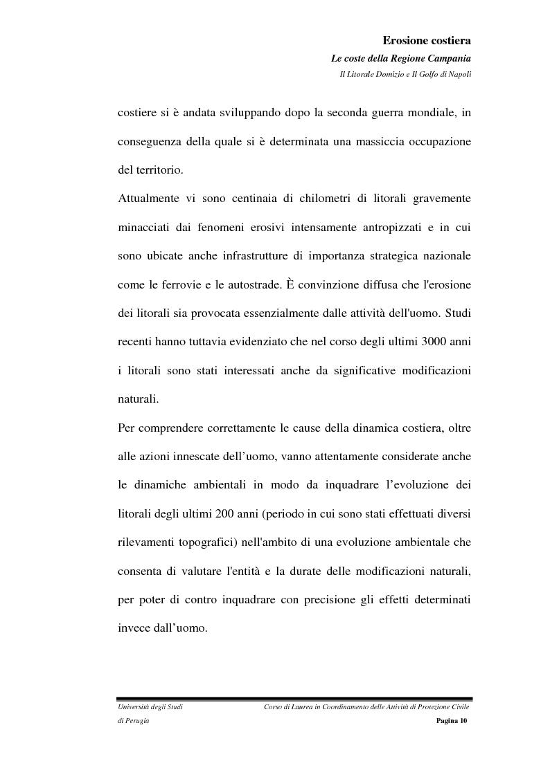 Anteprima della tesi: Erosione costiera. Le coste della Regione Campania - Litorale Domitio e Golfo di Napoli, Pagina 11