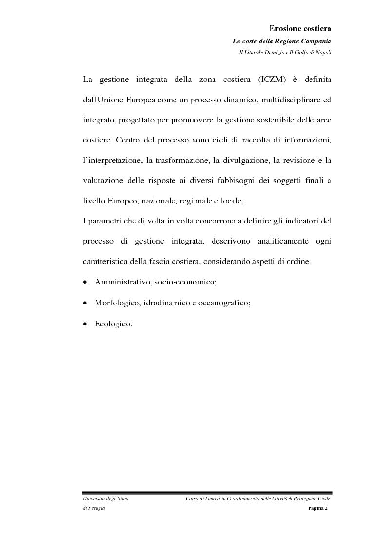 Anteprima della tesi: Erosione costiera. Le coste della Regione Campania - Litorale Domitio e Golfo di Napoli, Pagina 3
