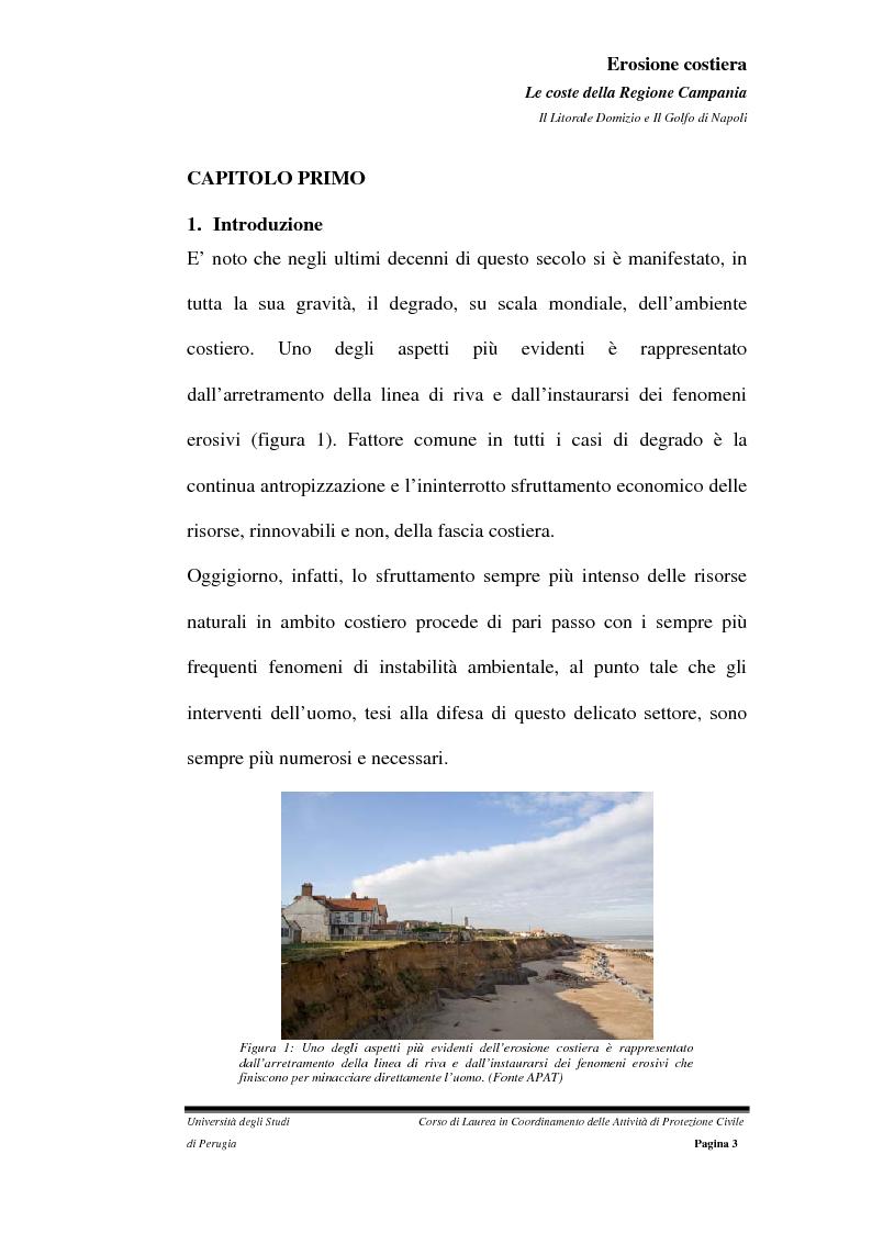 Anteprima della tesi: Erosione costiera. Le coste della Regione Campania - Litorale Domitio e Golfo di Napoli, Pagina 4