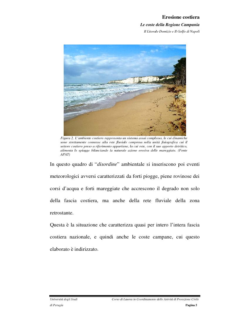 Anteprima della tesi: Erosione costiera. Le coste della Regione Campania - Litorale Domitio e Golfo di Napoli, Pagina 6