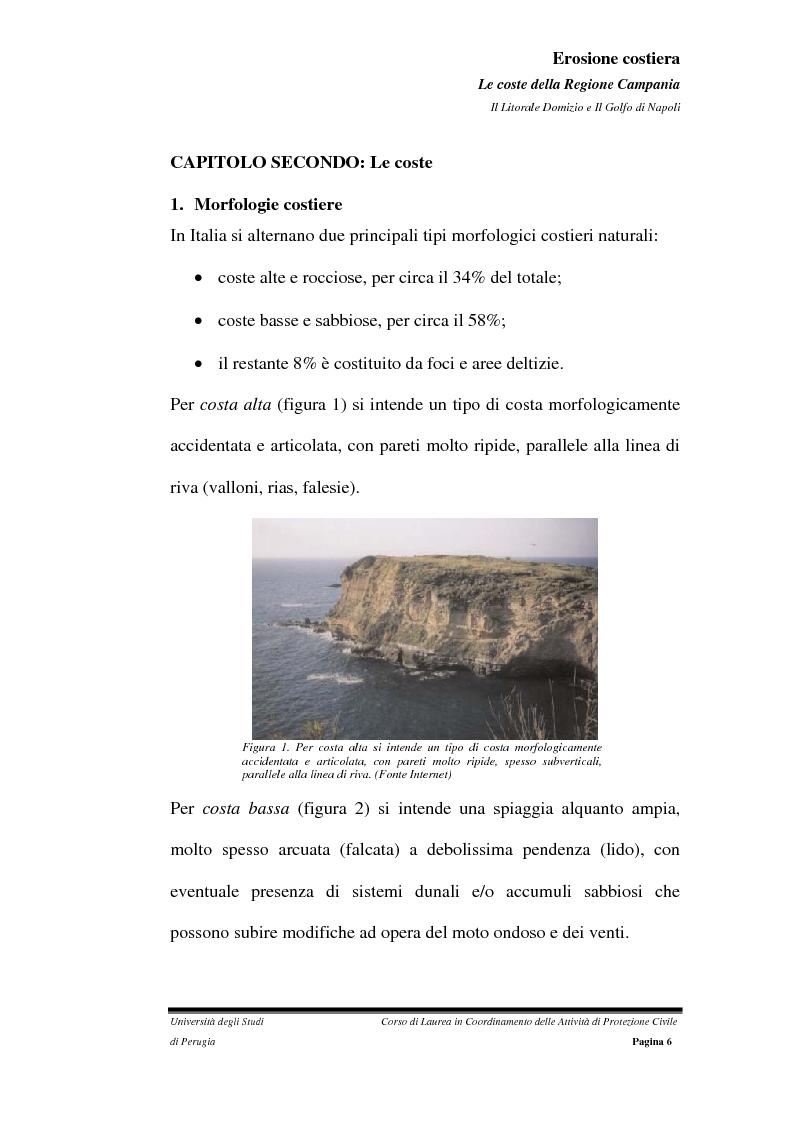 Anteprima della tesi: Erosione costiera. Le coste della Regione Campania - Litorale Domitio e Golfo di Napoli, Pagina 7