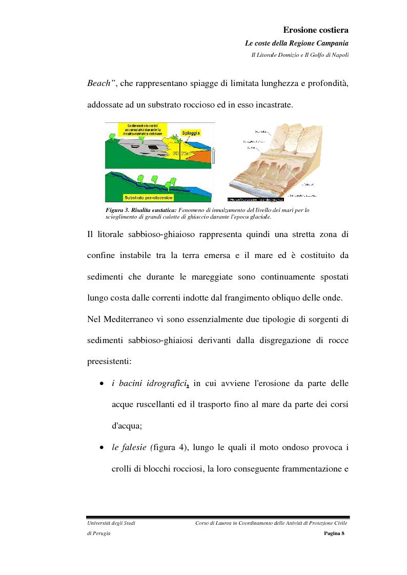 Anteprima della tesi: Erosione costiera. Le coste della Regione Campania - Litorale Domitio e Golfo di Napoli, Pagina 9
