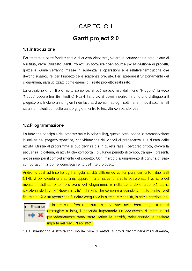 Anteprima della tesi: Critical Path Method applicato allo sviluppo di un nuovo prodotto per l'edilizia: NAUTILUS, Pagina 2