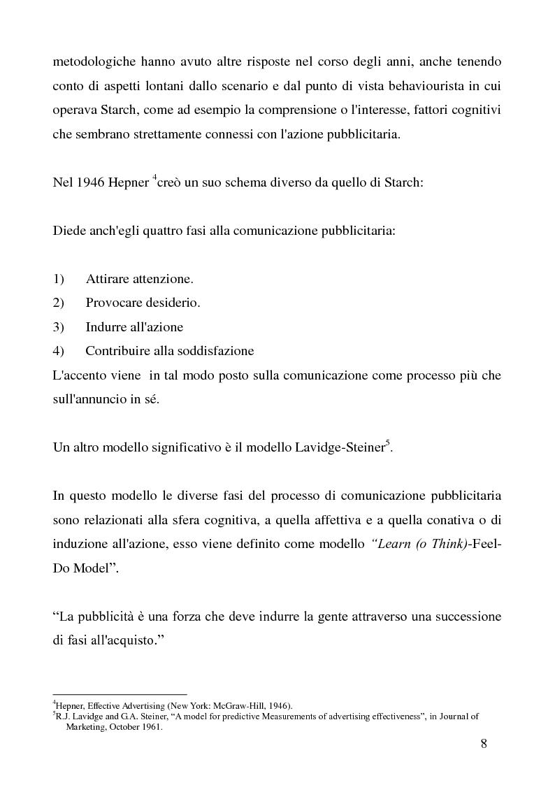 Anteprima della tesi: Presupposizione e Pubblicità, Pagina 5