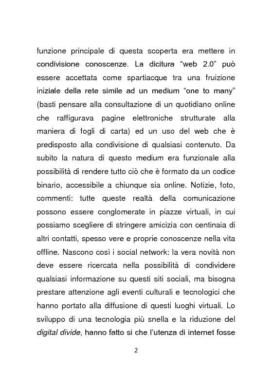 Anteprima della tesi: Giornalismo e social network : l'informazione a due stadi, Pagina 3