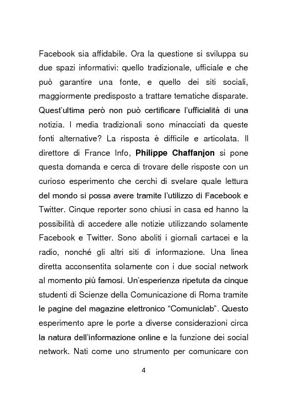 Anteprima della tesi: Giornalismo e social network : l'informazione a due stadi, Pagina 5
