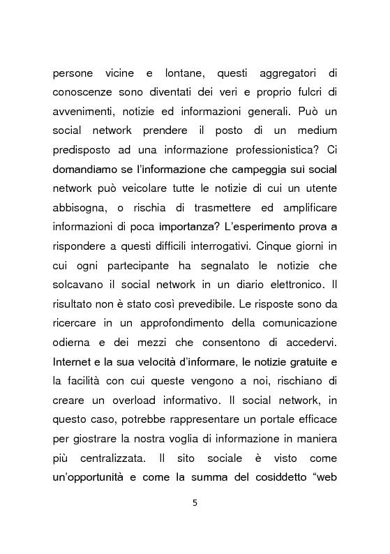 Anteprima della tesi: Giornalismo e social network : l'informazione a due stadi, Pagina 6