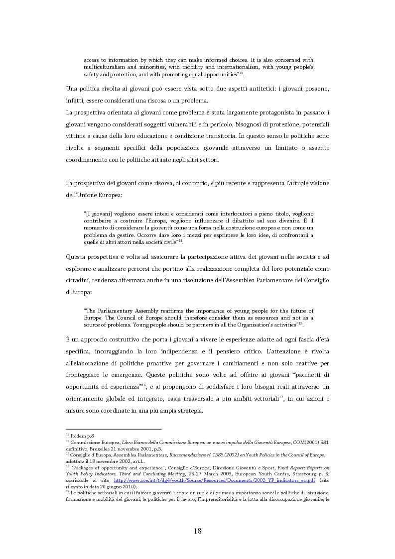 Anteprima della tesi: Giovani in Europa, giovani per l'Europa attraverso il programma Youth in Action 2007-2013: il ruolo del volontariato e dell'educazione non formale nell'integrazione europea, Pagina 13