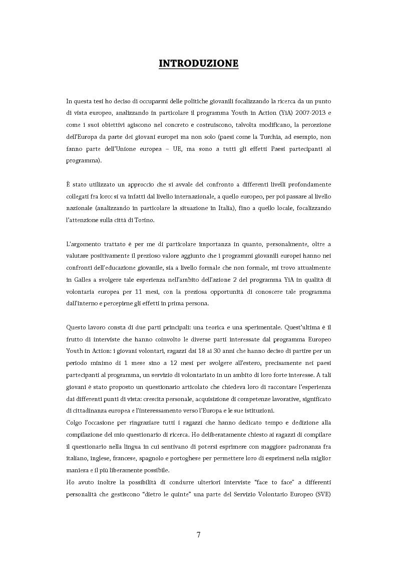 Anteprima della tesi: Giovani in Europa, giovani per l'Europa attraverso il programma Youth in Action 2007-2013: il ruolo del volontariato e dell'educazione non formale nell'integrazione europea, Pagina 2