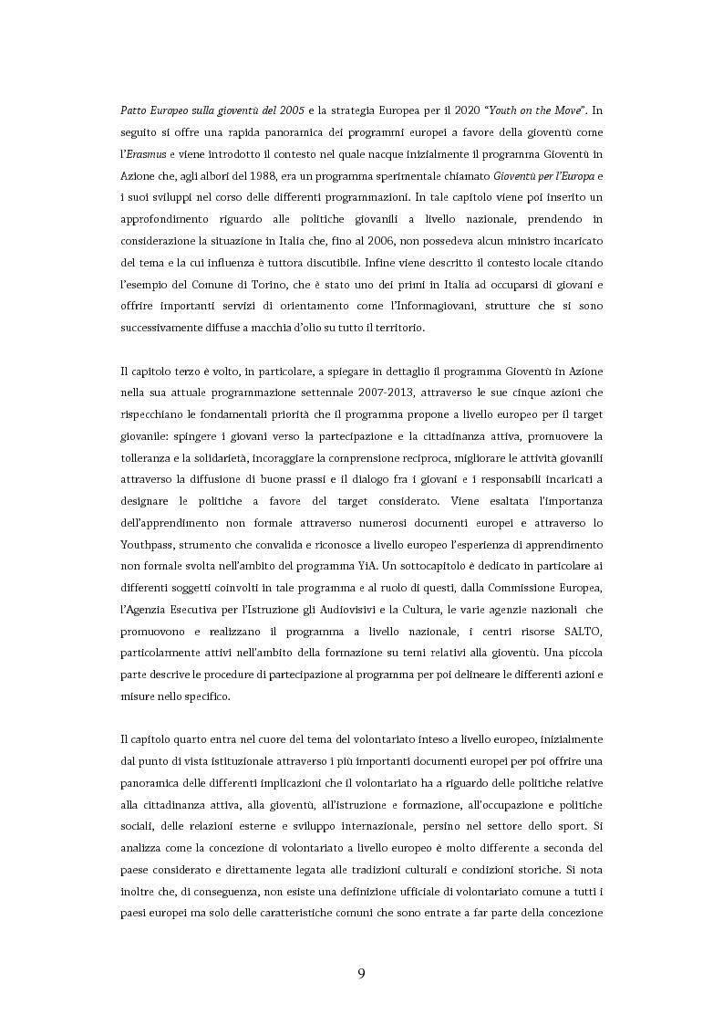 Anteprima della tesi: Giovani in Europa, giovani per l'Europa attraverso il programma Youth in Action 2007-2013: il ruolo del volontariato e dell'educazione non formale nell'integrazione europea, Pagina 4