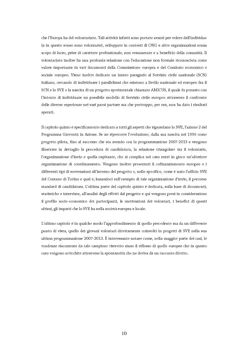 Anteprima della tesi: Giovani in Europa, giovani per l'Europa attraverso il programma Youth in Action 2007-2013: il ruolo del volontariato e dell'educazione non formale nell'integrazione europea, Pagina 5
