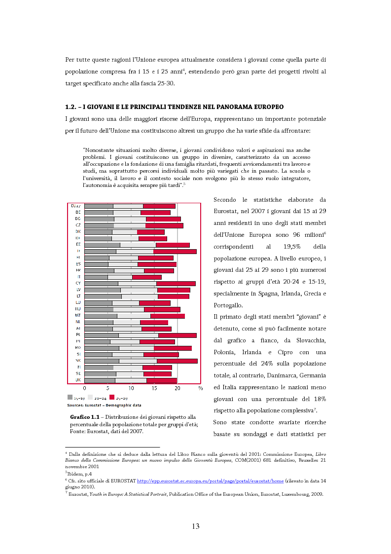 Anteprima della tesi: Giovani in Europa, giovani per l'Europa attraverso il programma Youth in Action 2007-2013: il ruolo del volontariato e dell'educazione non formale nell'integrazione europea, Pagina 8