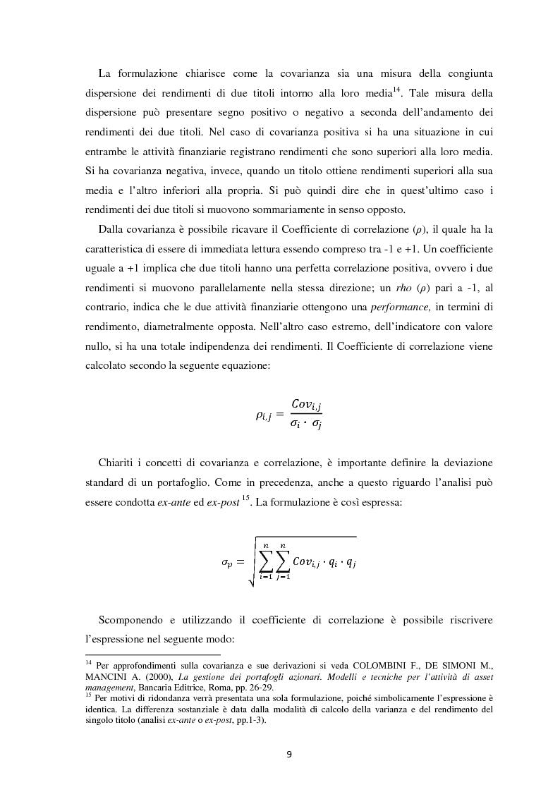 Anteprima della tesi: Scomposizione di portafogli finanziari e replica attraverso Exchange Traded Funds, Pagina 10