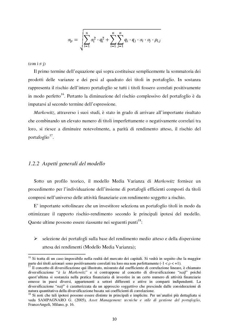 Anteprima della tesi: Scomposizione di portafogli finanziari e replica attraverso Exchange Traded Funds, Pagina 11
