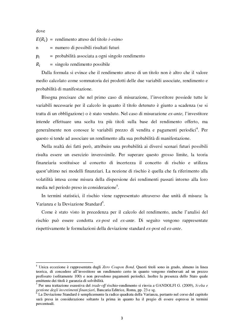 Anteprima della tesi: Scomposizione di portafogli finanziari e replica attraverso Exchange Traded Funds, Pagina 4
