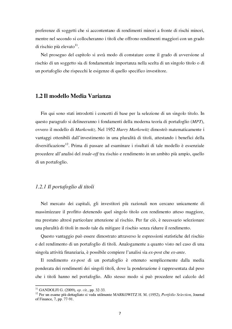 Anteprima della tesi: Scomposizione di portafogli finanziari e replica attraverso Exchange Traded Funds, Pagina 8