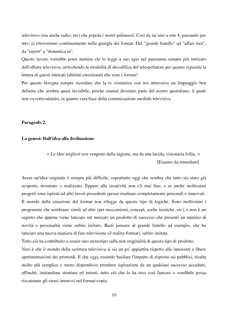 Anteprima della tesi: L'evoluzione del format: dalla televisione generalista alla web tv, Pagina 8