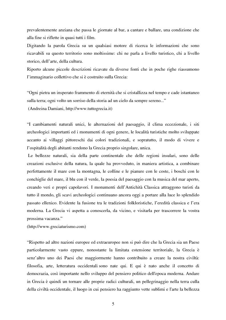 Anteprima della tesi: La rappresentazione della Grecia nel cinema, Pagina 3