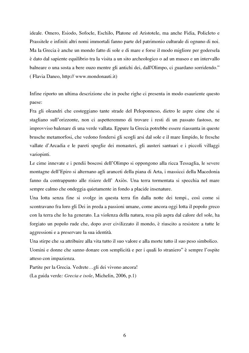Anteprima della tesi: La rappresentazione della Grecia nel cinema, Pagina 4